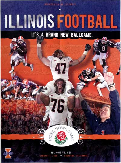 Illinois Football Poster